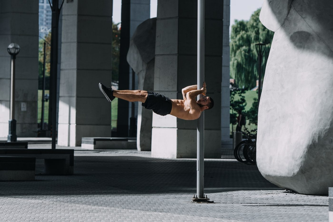 Progressing to a Human Flag and Other Calisthenics Moves